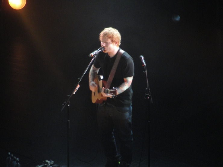 Ahhhh! *sizzling sound* Girl look at that body! He - He's Ed Sheeran.