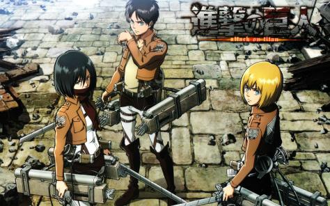 Mikasa, Eren and Armin