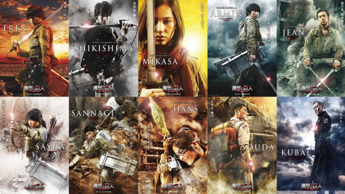 Attack On Titan – Live Action Character Pics